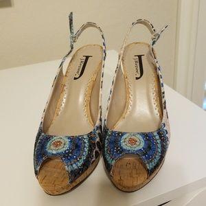 J Renee Open Heel and Peep Toe Pumps